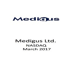 Medigus Ltd. announced a public offering of approximately  $ 7.5 million