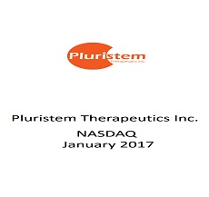 Pluristem Therapeutics Ltd. received a public offering at a value of $17.25 million
