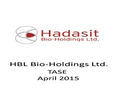 Attornyes Eran Ben-Dor and Reut Alfia represented HBL - Hadasit Bio-Holdings Ltd. in a public offering of $1.1 million