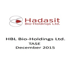 The firm represented HBL Hadasit Bio-Holdings Ltd. in a fund raising of apprx. $2 million