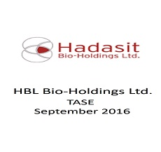 The firm represented HBL Hadasit Bio-Holdings Ltd. in a fund raising of approximately $1 million