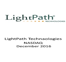 ZAG-S&W represented Roth Capital as Underwriter in $8.2 million offering of Light Path Technologies Inc.