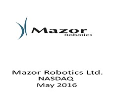 The firm represented Mazor Robotics Ltd., in a strategic and complex equity investment by Medtronic