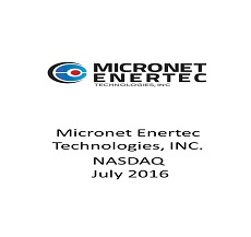 "The firm represented Micronet Enertec in a $2.4 million offering of ""Standby Equity Distribution Common Stock"""