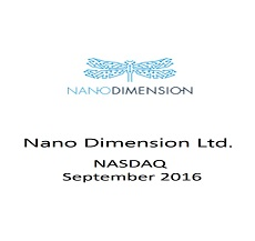 ZAG-S&W Team represented Nano Dimension Ltd. in its public offering of approximately $13.8 million