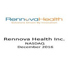 The firm represented the US investment bank Gunner & Joseph in a public offering of Rennova Health.