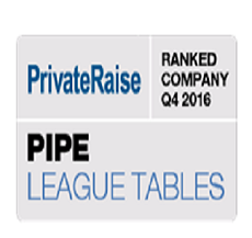 ZAG-S&W LLP was ranked #8 in PrivateRaise's Q4 2016 PIPE league tables!